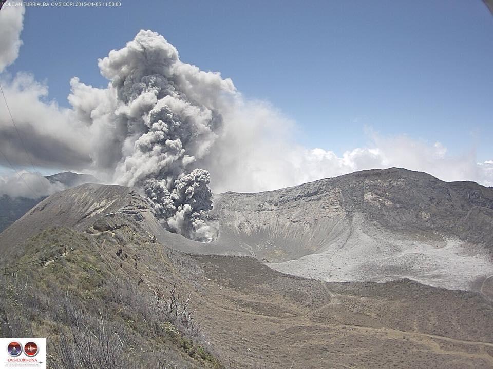 August 18 , 2015. English . Sakurajima, Turrialba, Cotopaxi .