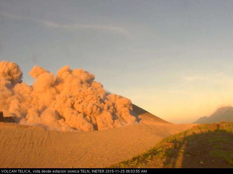 November 26, 2015.  EN. Nevado Del Ruiz, Sakurajima, Telica.