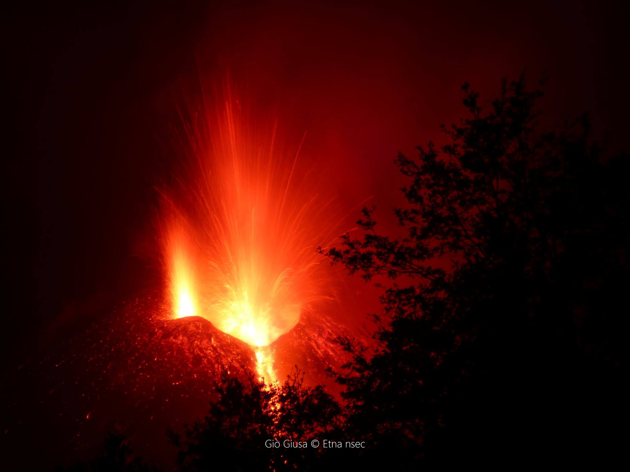 December 08, 2015. EN. Etna , Turrialba, Colima .