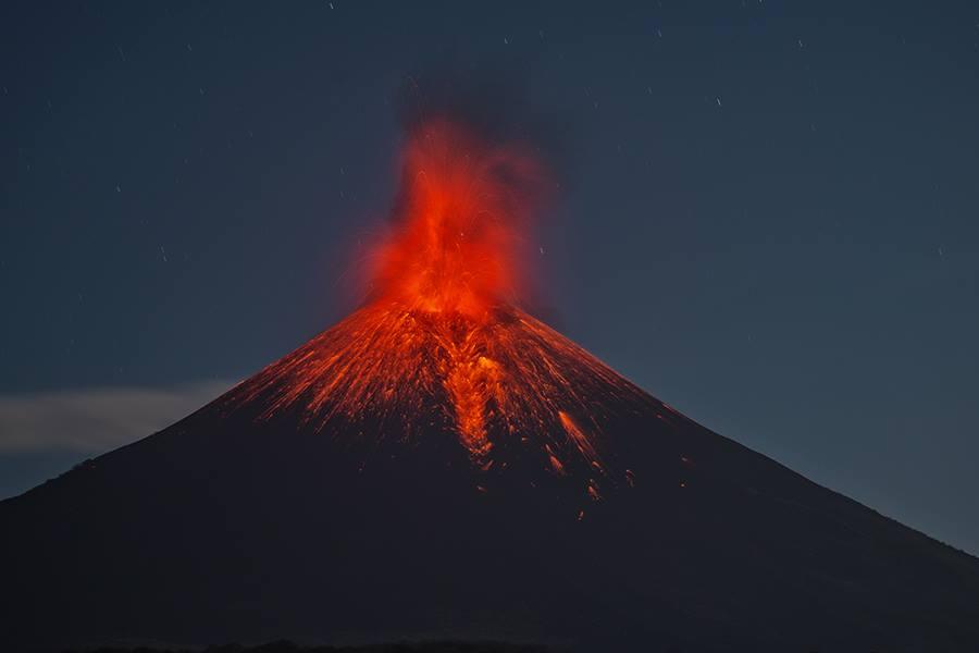 26/02/2016. Fr. Nevado Del Ruiz , Momotombo , Masaya , Telica , San Cristobal , Bulusan .