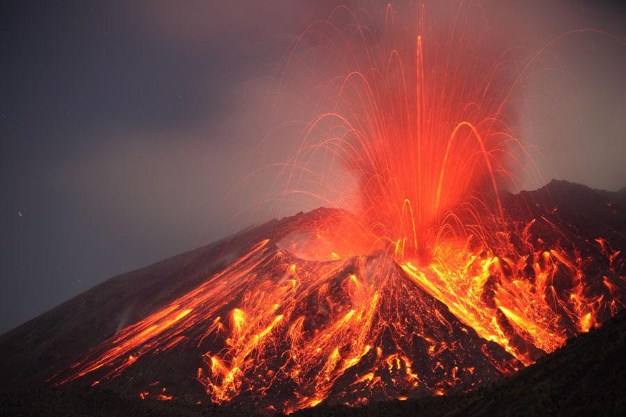 06/02/2016. FR. Sakurajima , White Island , Reventador .