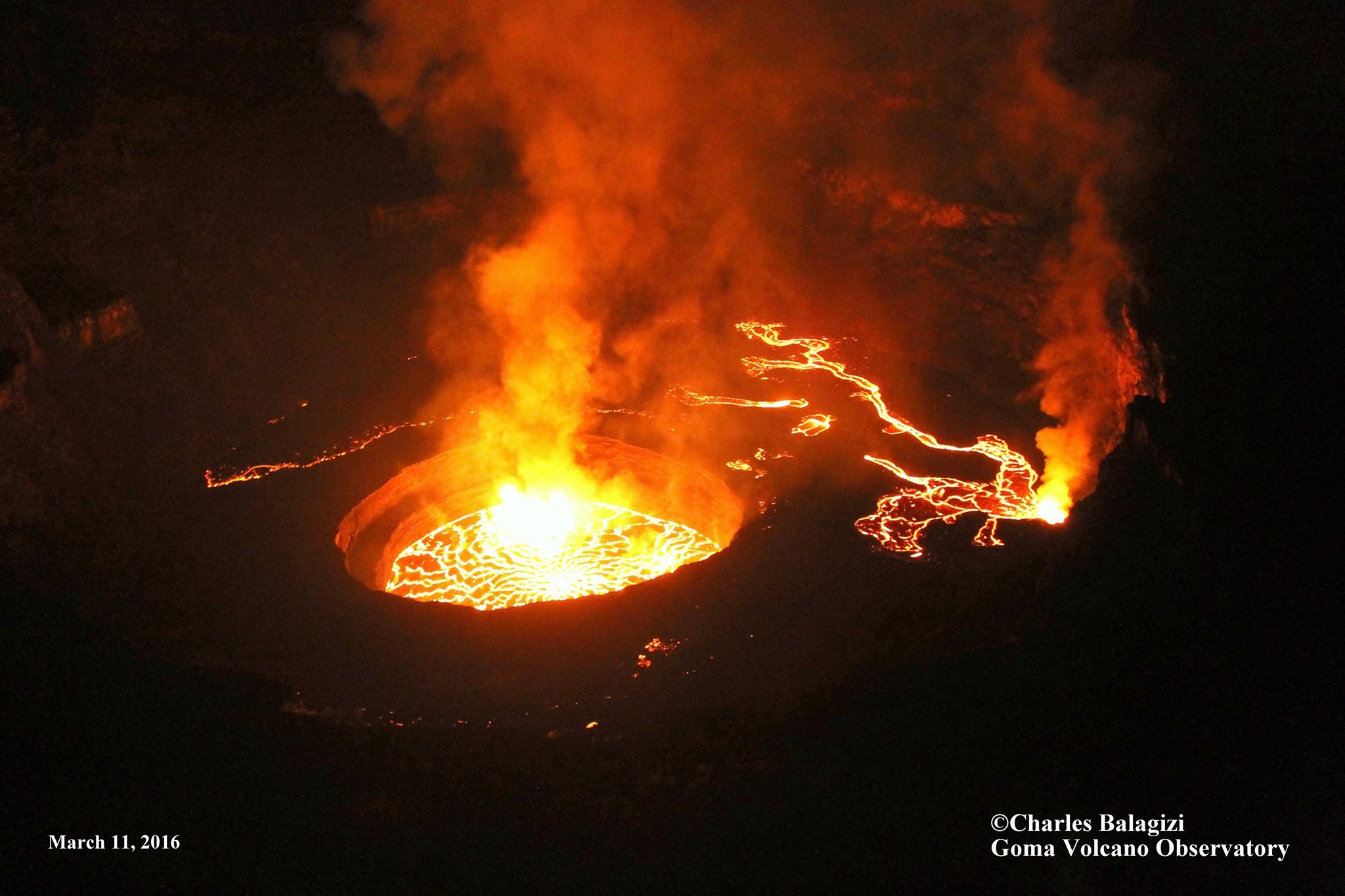 March 19 , 2016. EN.  Nyiragongo , Copahue , Cascade Range  ( St Helens) ,  Masaya .