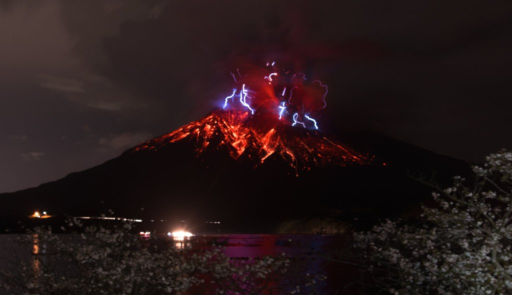10/04/2016. FR. Kilauea , Colima , Telica , Aira ( Sakurajima).