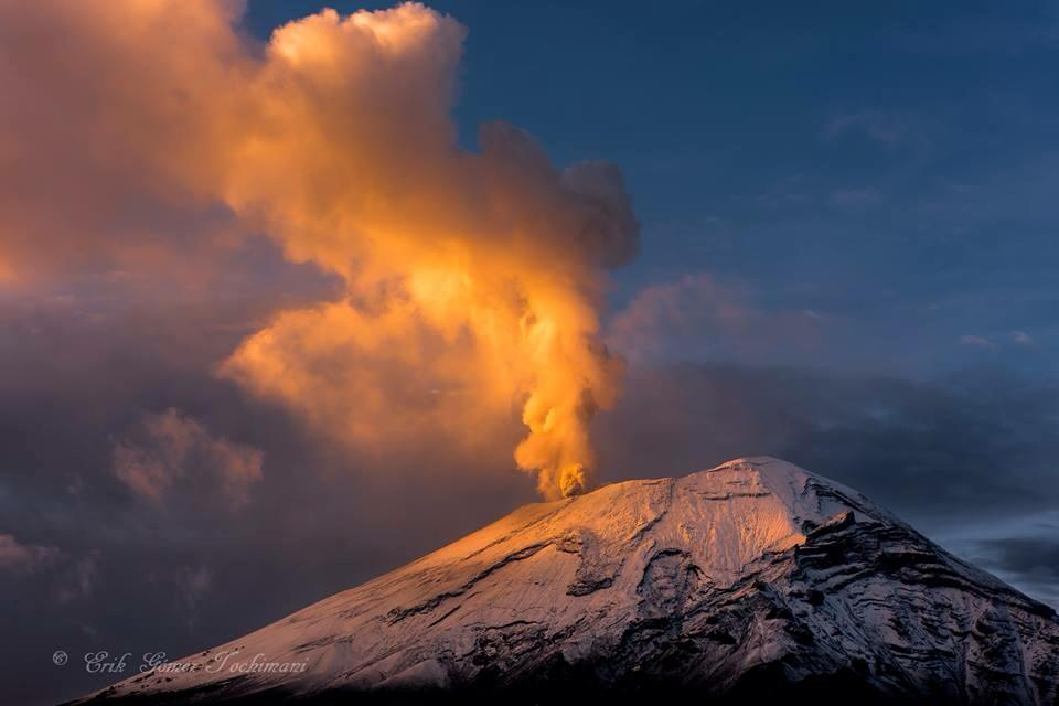 October 12 , 2017.  EN . Nevados de Chillan , Lewotolo , Santiaguito , Popocatepetl .