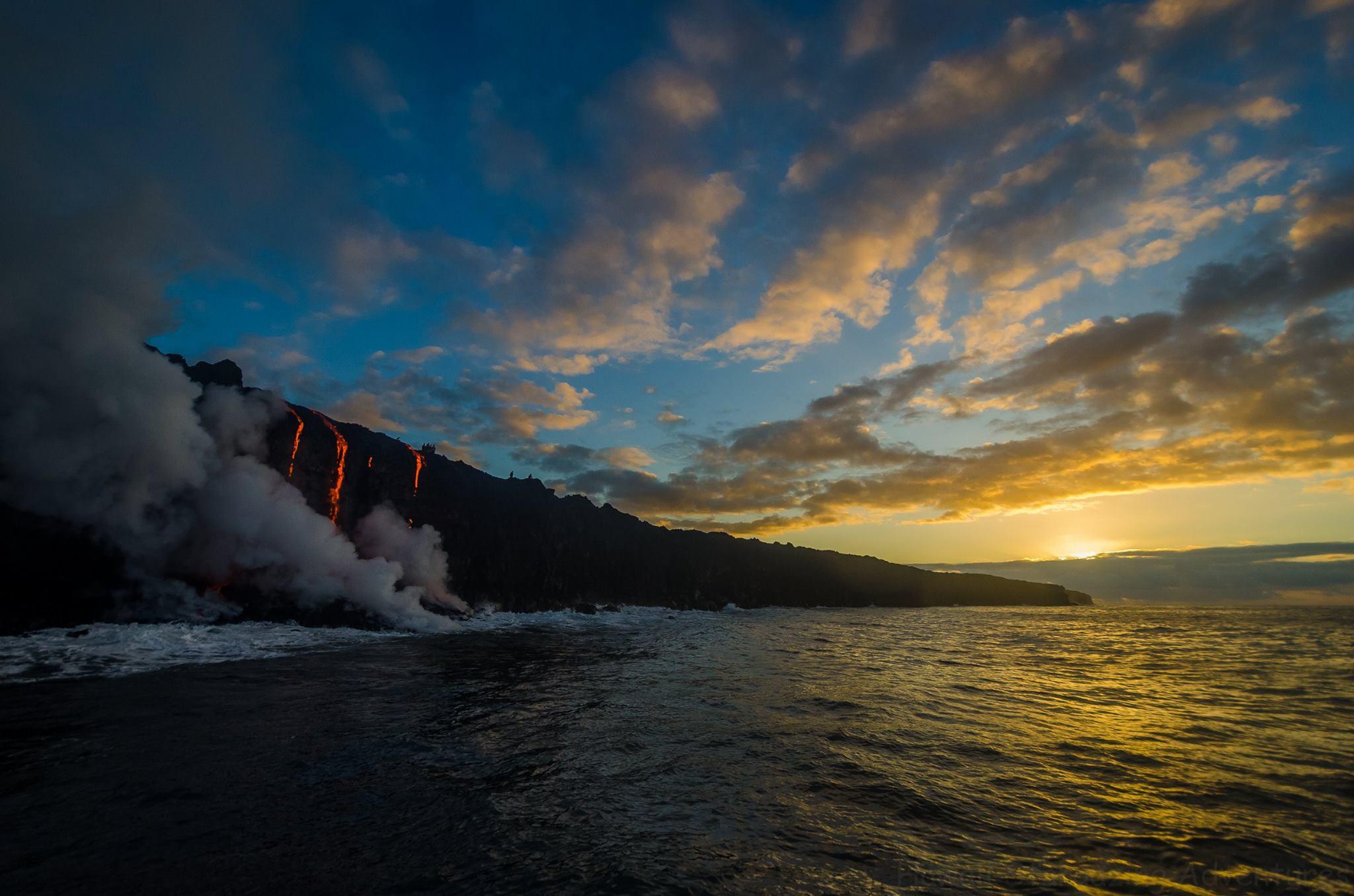 August 04 , 2016. EN.  Guallatiri , Kilauea , Nevados de Chillan , Brava Island .