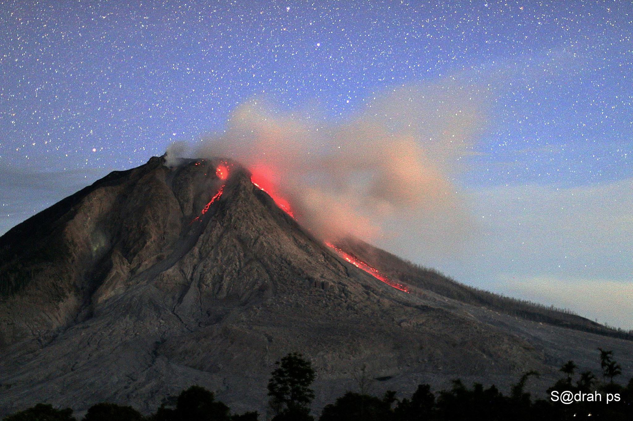 August 11 , 2016. EN.  Klyuchevskoy , Fuego , Popocatepetl , Sinabung .