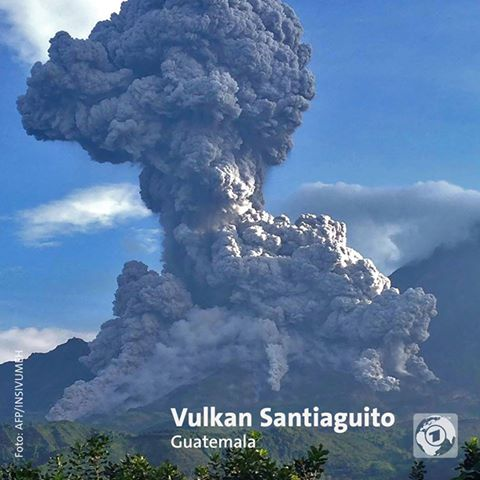 August 17 , 2016. EN.  Sabancaya , Santiaguito , Popocatepetl , Ruapehu .