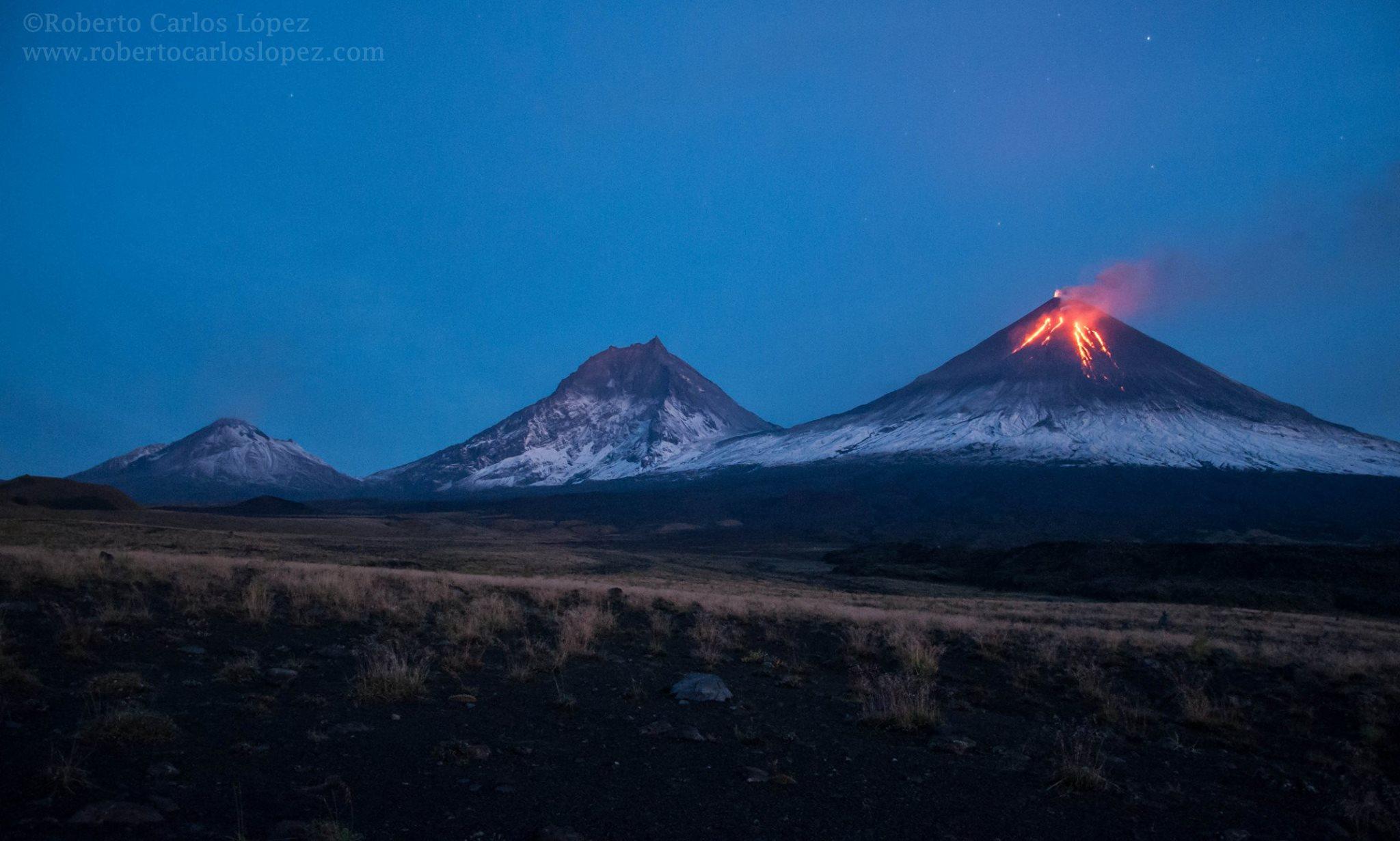 September 23 , 2016. EN.  Turrialba , Nevado Del Ruiz , Klyuchevskoy , Sheveluch .