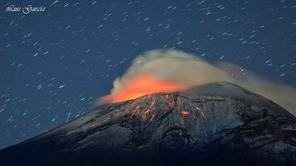 April 16 , 2017. EN.  Bogoslof , Semeru , Popocatepetl , Poas .