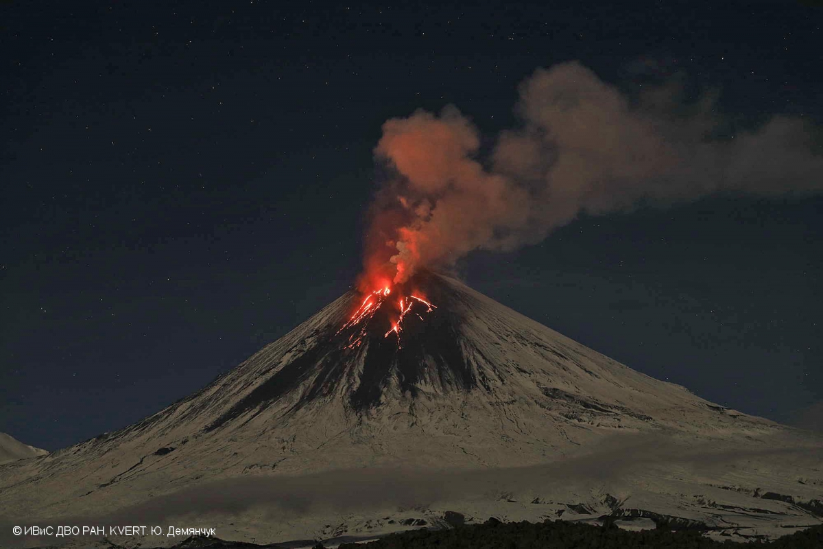 March 14, 2020. EN . Alaska : Semisopochnoi , Kamchatka : Klyuchevskoy , Indonesia : Merapi , United States , Mount Rainier , Mexico : Popocatepetl .