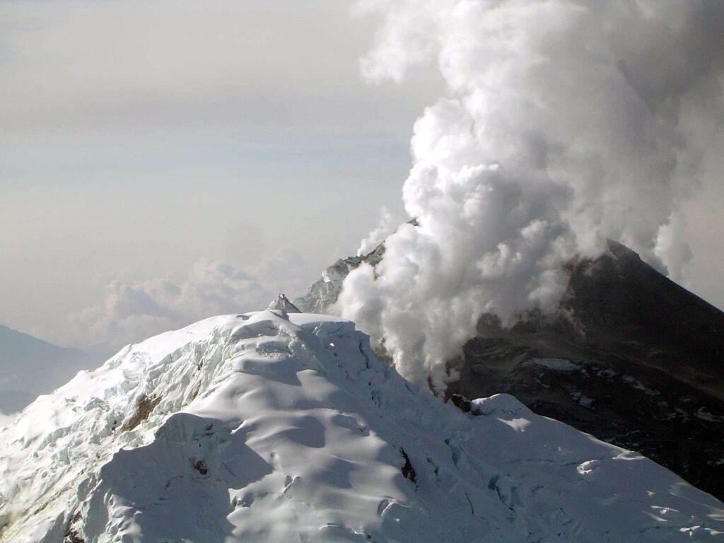 November 18 , 2018. EN.  Colombia : Nevado del Huila , El Salvador : San Miguel ( Chaparrastique ) , Guatemala : Fuego , Italy : Campi Flegrei .