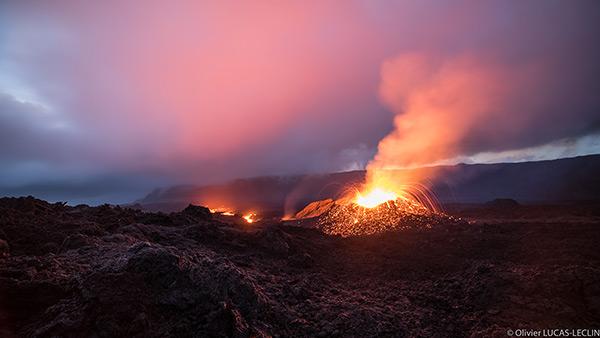 08/02/2017. FR. Etna , Piton de la Fournaise , Planchon-Peteroa , Volcan de Boue de Bakou , Cleveland .