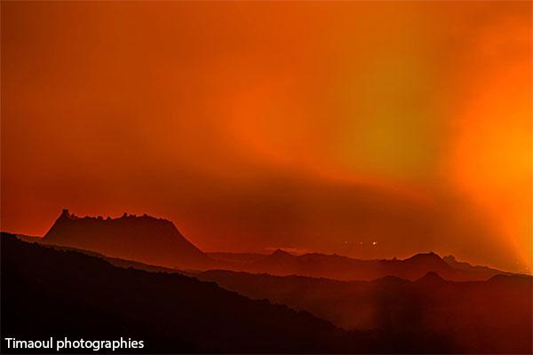 13/02/2017. FR. Piton de la Fournaise , Tungurahua , Reventador , Fuego , Volcans de Californie .
