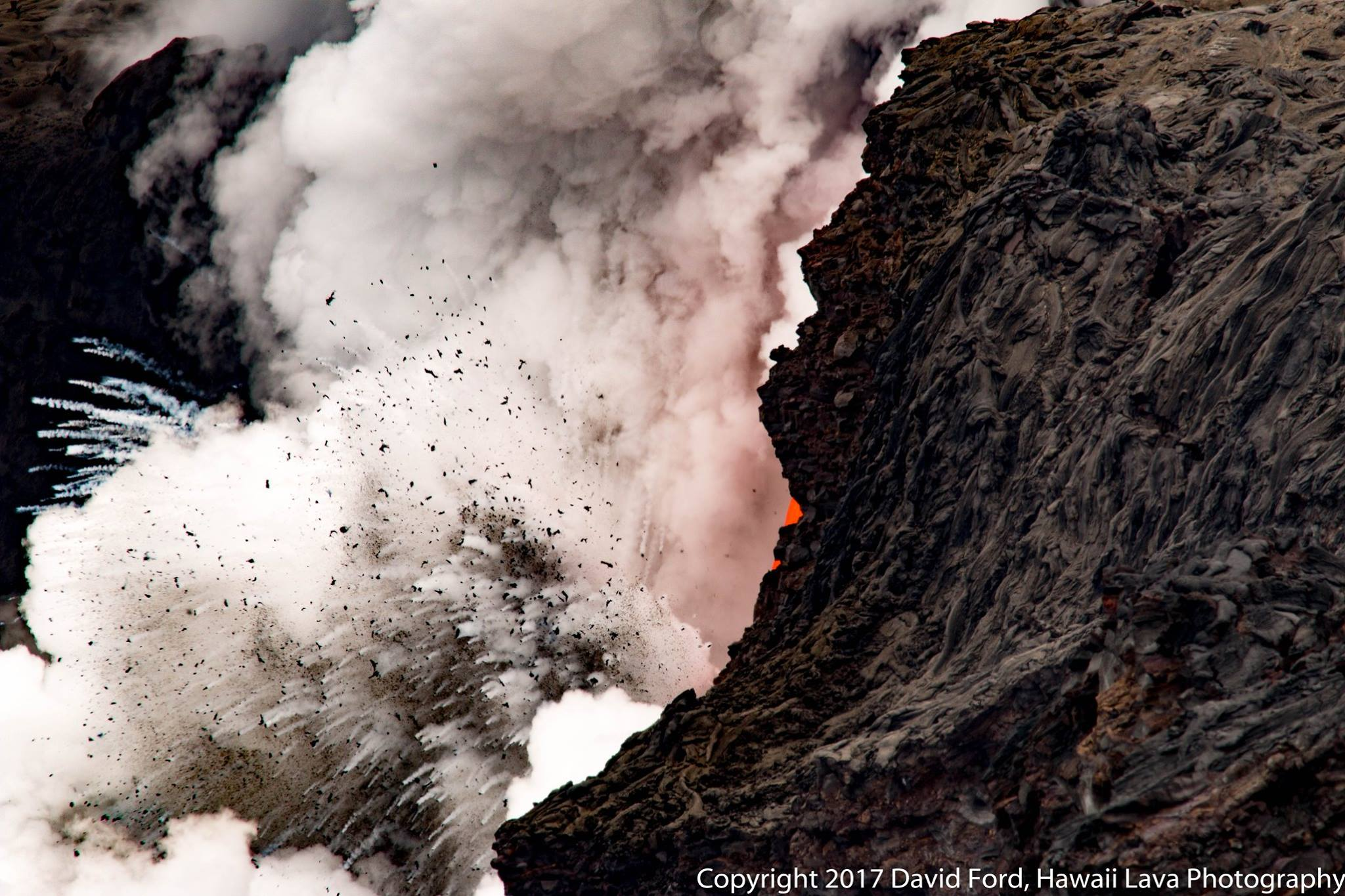 March 08 , 2017.  Kilauea , Cleveland , Piton de la Fournaise , Popocatepetl .