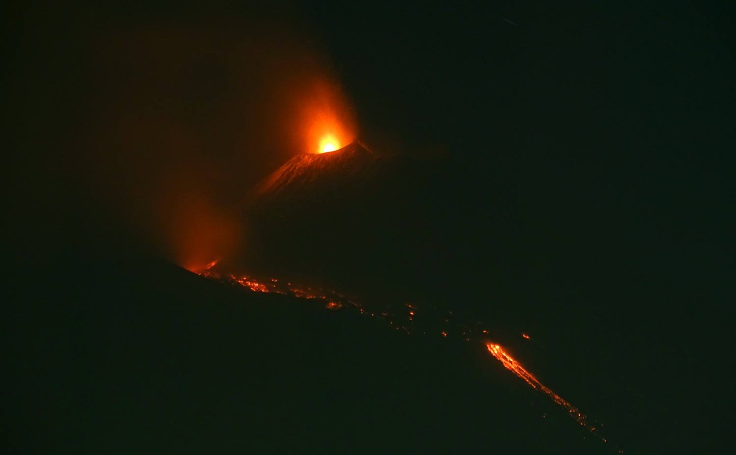 March 18 , 2017. EN.  Etna , Nevado Del Ruiz , Bogoslof , Lanin.
