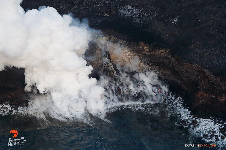 March 30 , 2017. EN.  Cerro Azul , Nevado Del Ruiz , Kilauea , Planchon Peteroa .