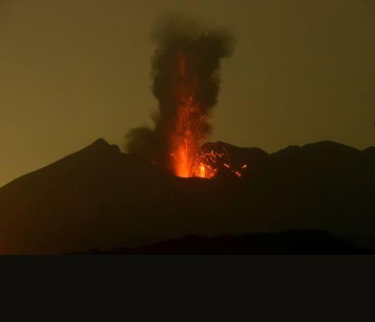 03/05/2017. FR. Sakurajima ( Aira ) , Nevado Del Ruiz , Sabancaya , Poas .