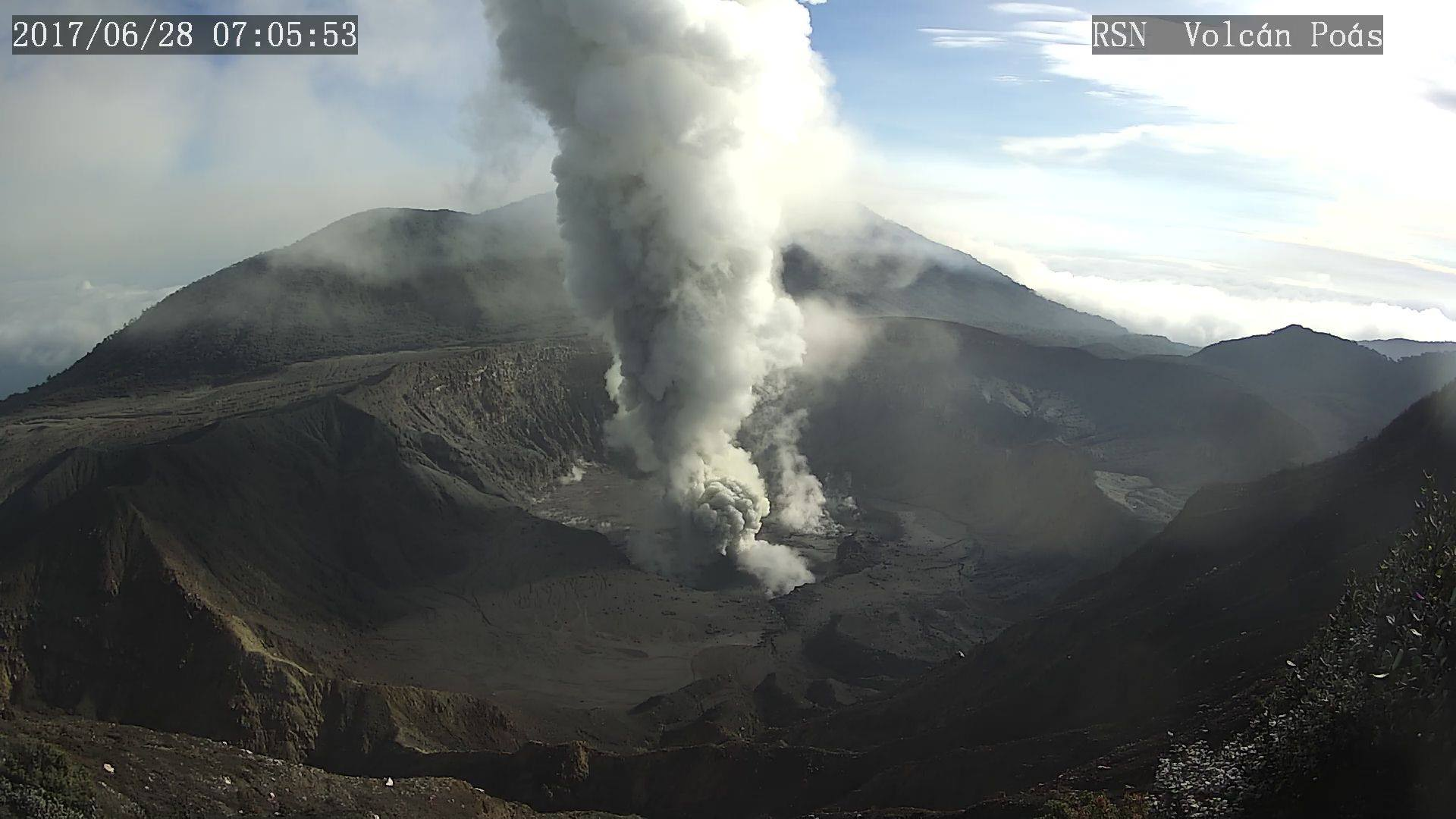 June 30 , 2017.   Nevado Del Ruiz , , Bogoslof , Lō'ihi  , Poas .