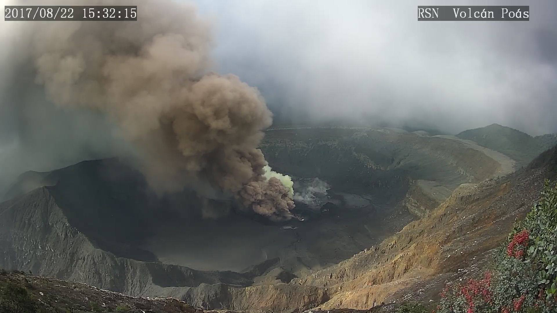 August 24 , 2017. EN. San Cristobal , Poas , Piton de la Fournaise , Bogoslof , Tupungatito.