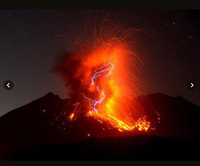 October 03 , 2017. EN. Sakurajima ( Aira) , Ambae , Cleveland , Sabancaya , Plateau of Dieng .