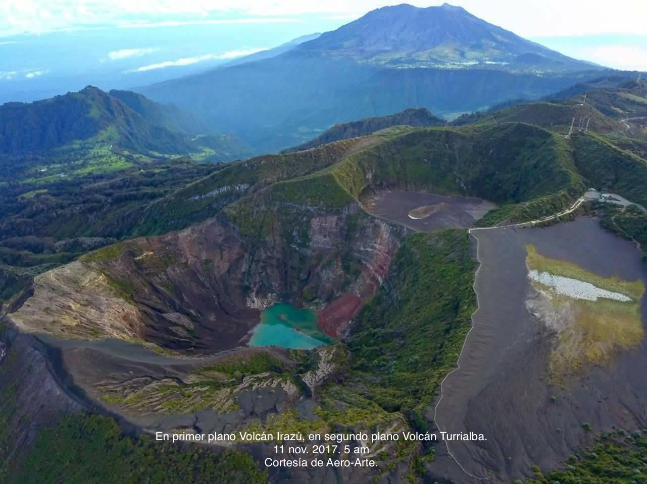 November 12 , 2017 . EN.  Copahue , Chiles/Cerro Negro , Popocatepetl , Turrialba , Poas , Rincon de la Vieja , Irazu .