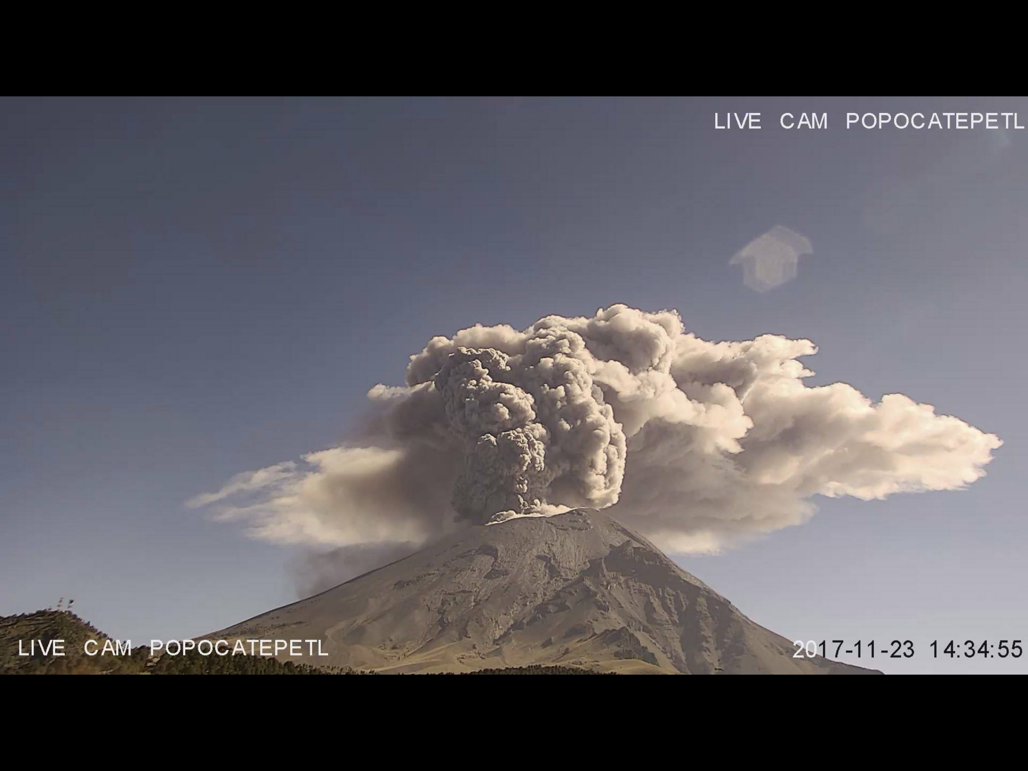 November 24 , 2017. EN . Popocatépetl , Sinabung , Ebeko , Öræfajökull  .