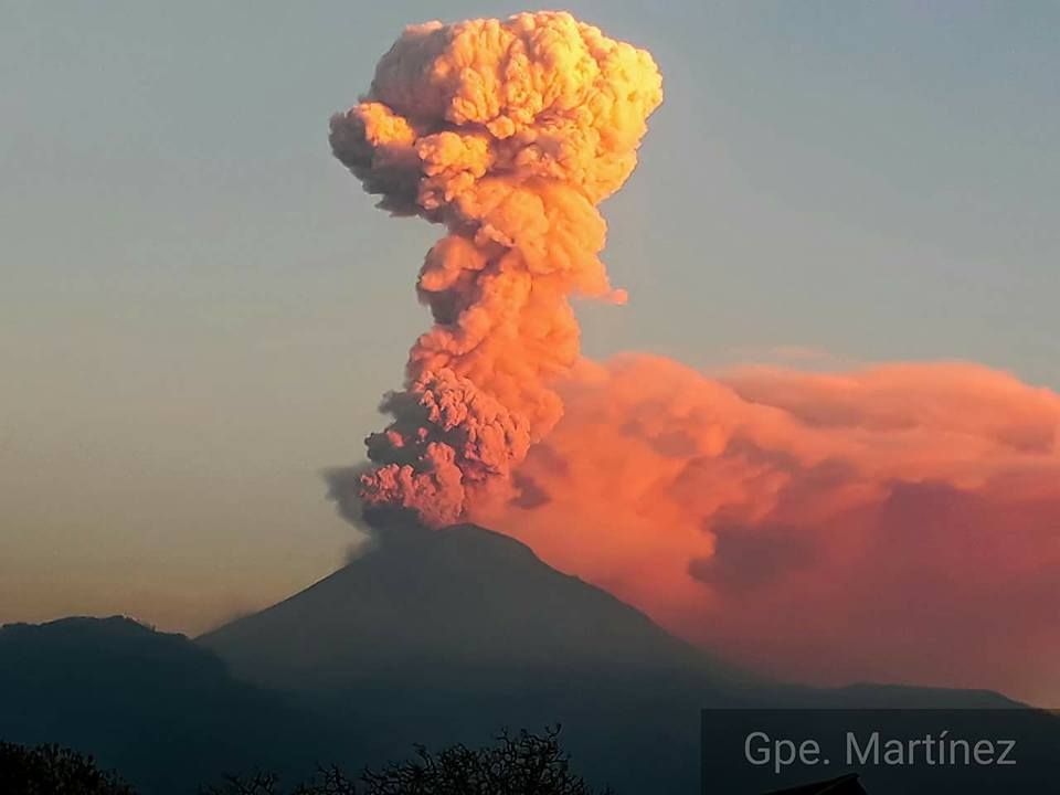 25 Novembre 2017. FR. Popocatepetl , Kilauea , Sheveluch , Ibu .