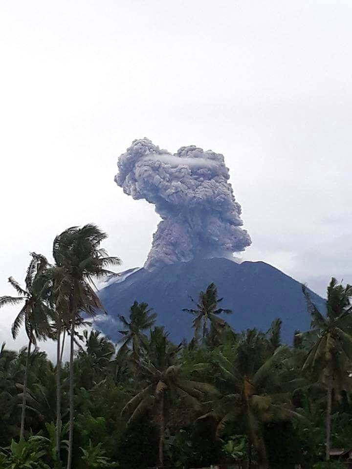January 12 ,  2018 . EN .  Agung , Kadovar , Tenorio , Aira ( Sakurajima) .