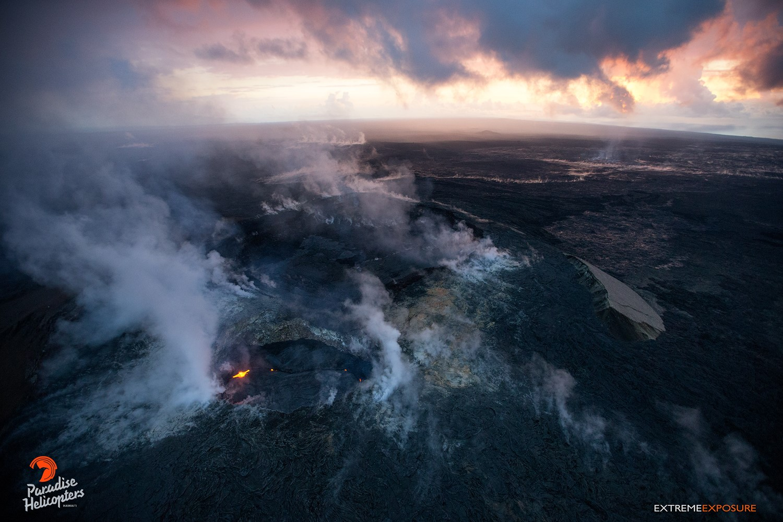 April 02 , 2018. EN. Kawah Sileri , Kilauea , Piton de la Fournaise , Etna .