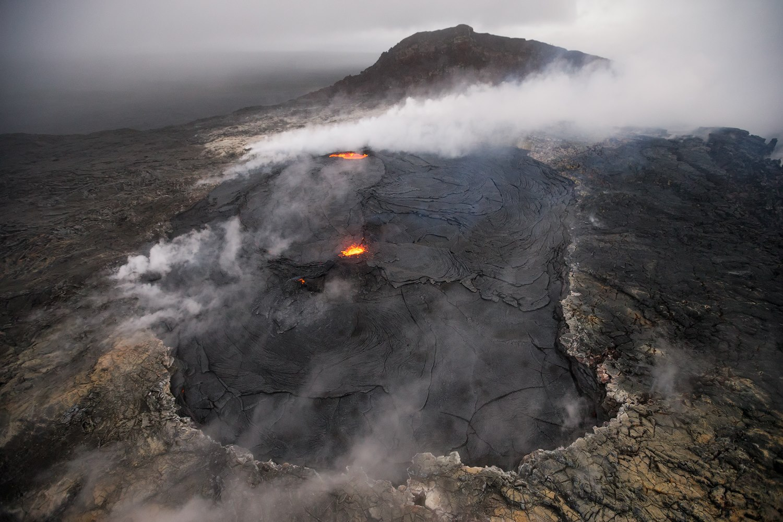 May 02 ,  2018. EN. Piton de la Fournaise , Pu'u'Ō'ō , Chiles / Cerro Negro , Marapi .