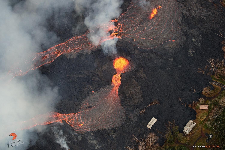 26 Mai 2018. FR. Pu'u 'Ō'ō / Kilauea , Fuego , Merapi , Piton de la Fournaise , Cleveland .