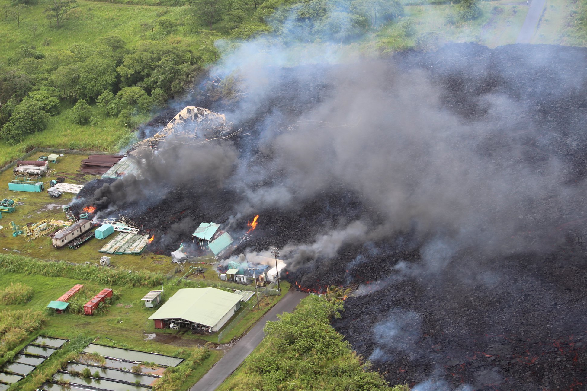 May 30 ,  2018.   EN.   Pu'u 'Ō'ō / Kilauea , Galeras , Mayon , Piton de la Fournaise .