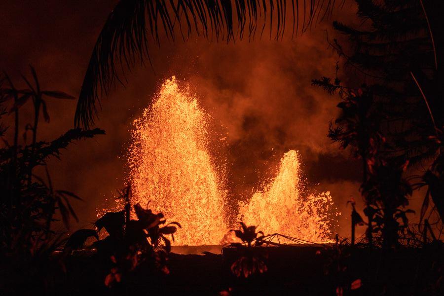 June 02 , 2018 . EN.   Pu'u 'Ō'ō / Kilauea , Mérapi , Piton de la Fournaise , Fuego .