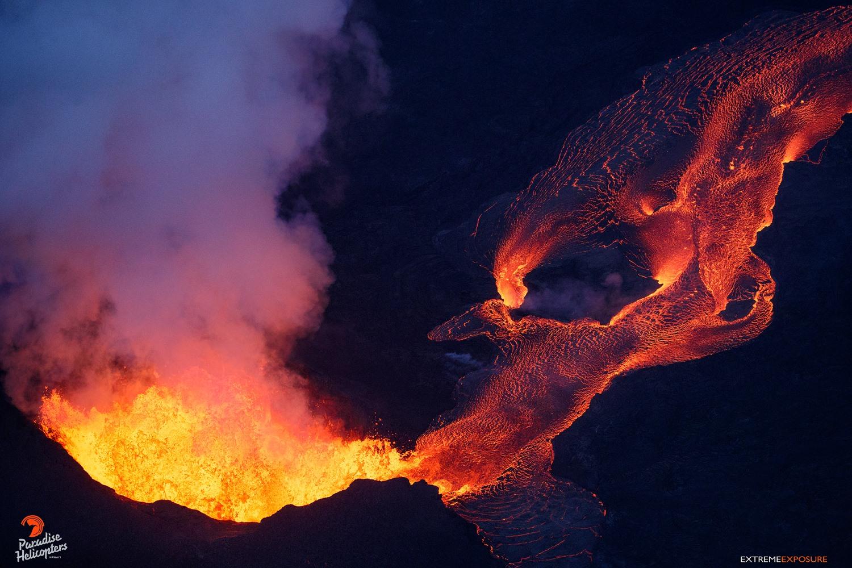 June 16 , 2018. EN. Hawai : Pu'u 'Ō'ō / Kilauea , Chile : Nevados de Chillan , Guatemala : Fuego , Kamchatka : Klyuchevskoy .