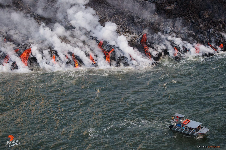 22 Juin 2018. FR. Hawai  : Pu'u 'Ō'ō / Kilauea , Hawai : Mauna Loa , Indonésie : Krakatau , Nicaragua : Telica .