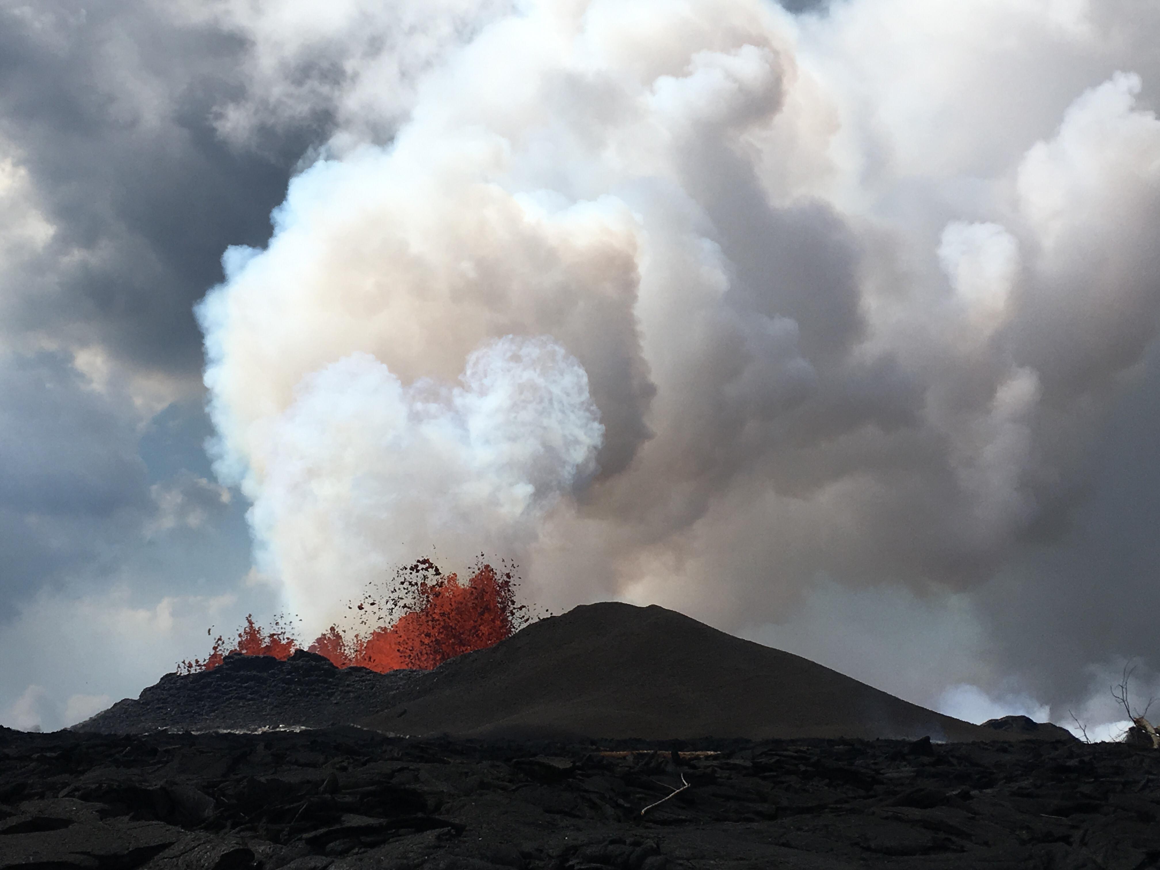 07 Juin 2018. FR. Pu'u 'Ō'ō / Kilauea , Fuego , Pacaya , Lascar , Taupo .