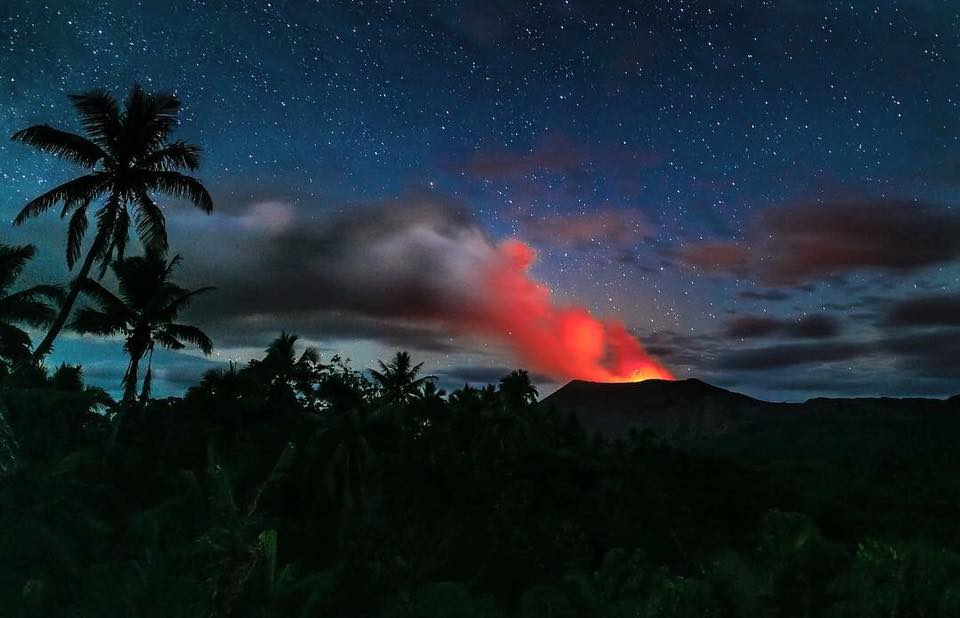 July 27 , 2018. EN.  Vanuatu : Ambae , Hawai : Kilauea , Philippines : Kanlaon , Colombia : Chiles / Cerro Negro , Japan : Asamayama .