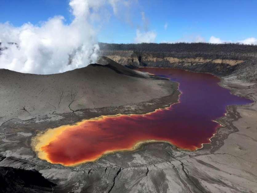 July 07 , 2018.  EN.  Vanuatu : Ambae , Hawai : Kilauea , La Réunion : Piton de la Fournaise , Chile : Planchon Peteroa .