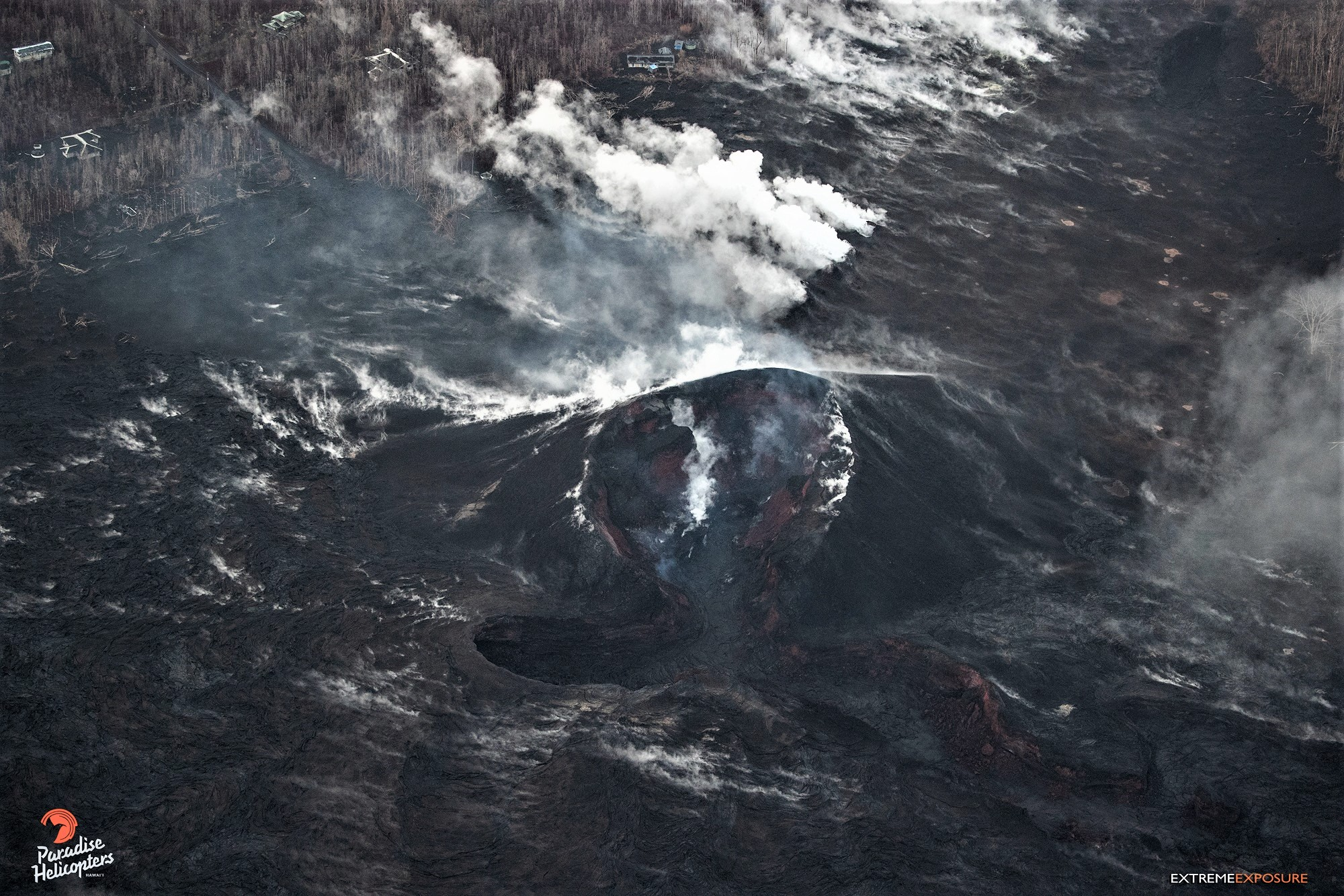 August 31 , 2018.  EN.  Hawaï : Kilauea , Indonesia : Anak Krakatau , Chile : Lascar , Kamchatka : Ebeko ,  Ecuador : Chalpatan .