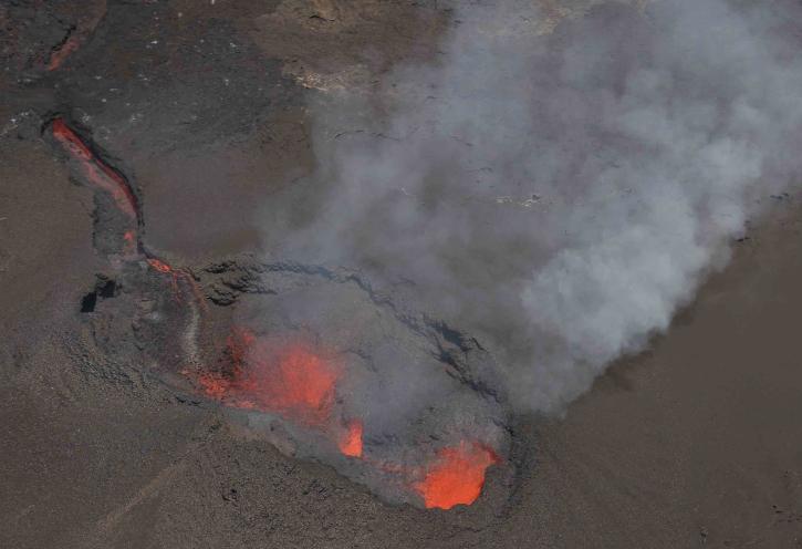 September 23 , 2018. EN.  Colombia : Nevado del Ruiz , Hawai : Kilauea , La Réunion : Piton de la Fournaise , Alaska : Semisopochnoi , Kamchatka : Ebeko .