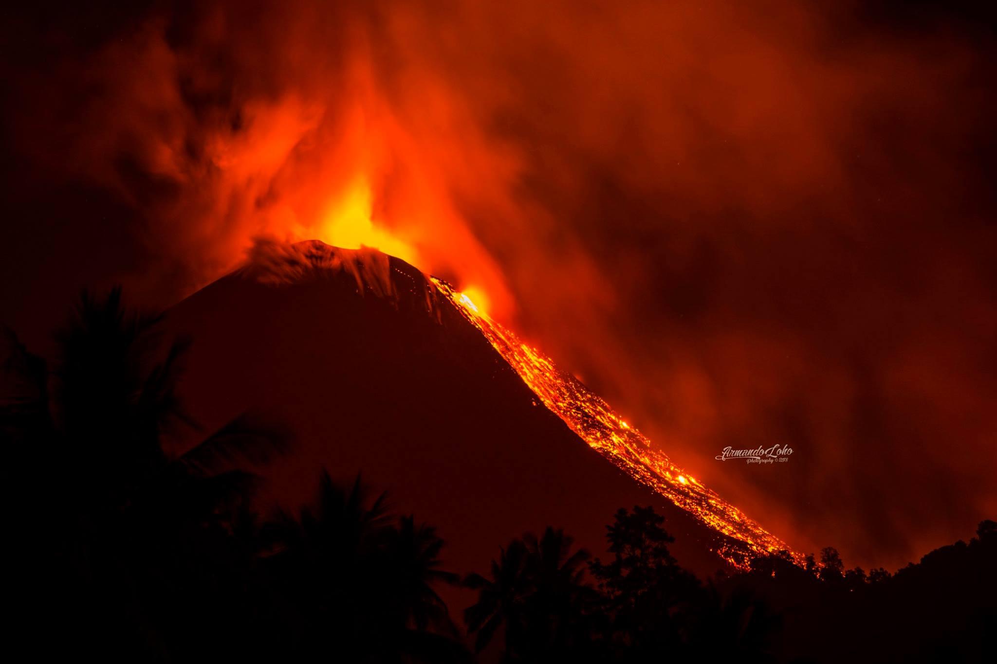 October 06 , 2018. EN.  La Réunion : Piton de la Fournaise , Alaska : Veniaminof , Indonesia : Soputan , Hawai : Kilauea .