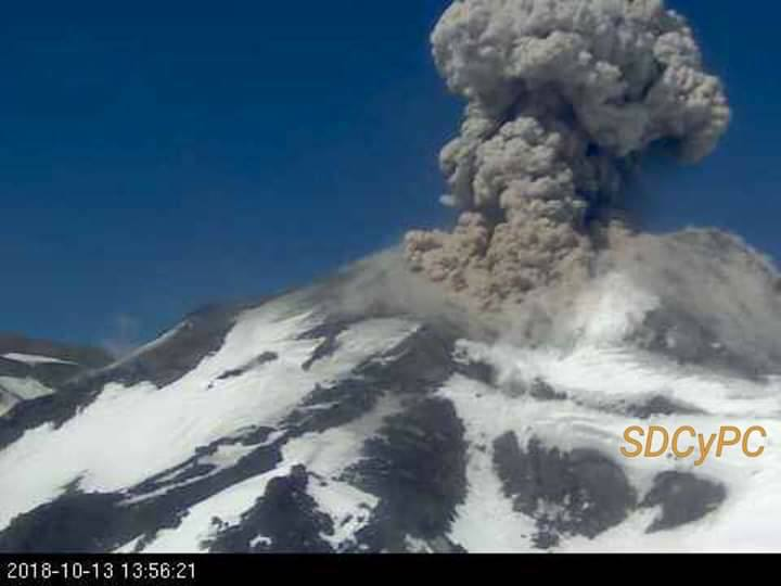 14 Octobre 2018. FR. Guatemala : Fuego , La Réunion : Piton de la Fournaise , Chili : Nevados de Chillan , Hawai : Kilauea .
