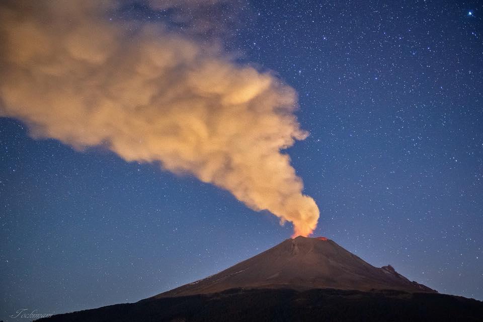 23 Novembre 2018. FR. Mexique : Popocatepetl , Alaska : Veniaminof , Colombie : Galeras , Japon : Meakandake .