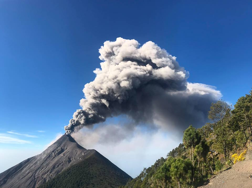 November 29 , 2018. EN.  Colombia : Nevado del Ruiz , Japan : Aira ( Sakurajima) , Guatemala : Fuego , Indonesia : Merapi , New Zealand : White Island ( Whakaari) .