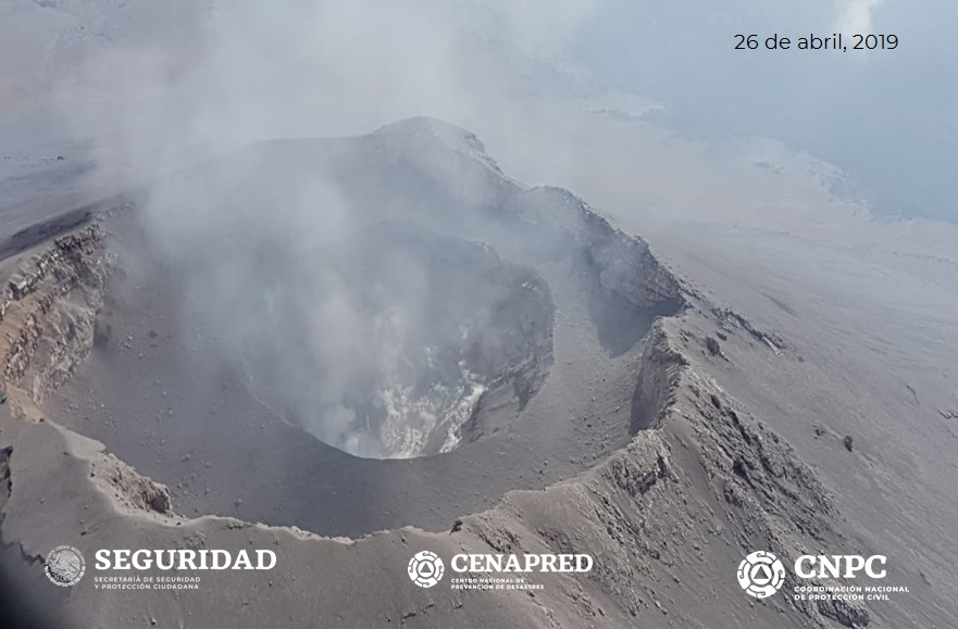 April 28 , 2019 . EN . Kamchatka : Sheveluch , Montserrat : Soufriere Hills , Mexico : Popocatepetl , Indonesia : Merapi .