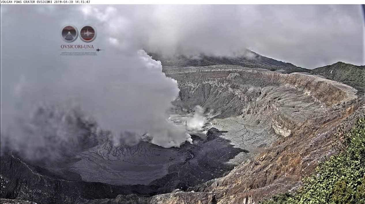 02 Mai 2019. FR. Costa Rica : Turrialba / Poas / Rincon de la Vieja , Indonésie : Ibu , Colombie : Nevado del Ruiz , Etats-Unis : Yellowstone .