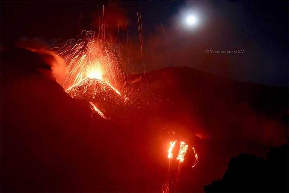 September 25, 2019. EN. Italy / Sicily : Etna , Kamchatka : Klyuchevskoy , Colombia : Nevado del Huila , Guatemala : Fuego .