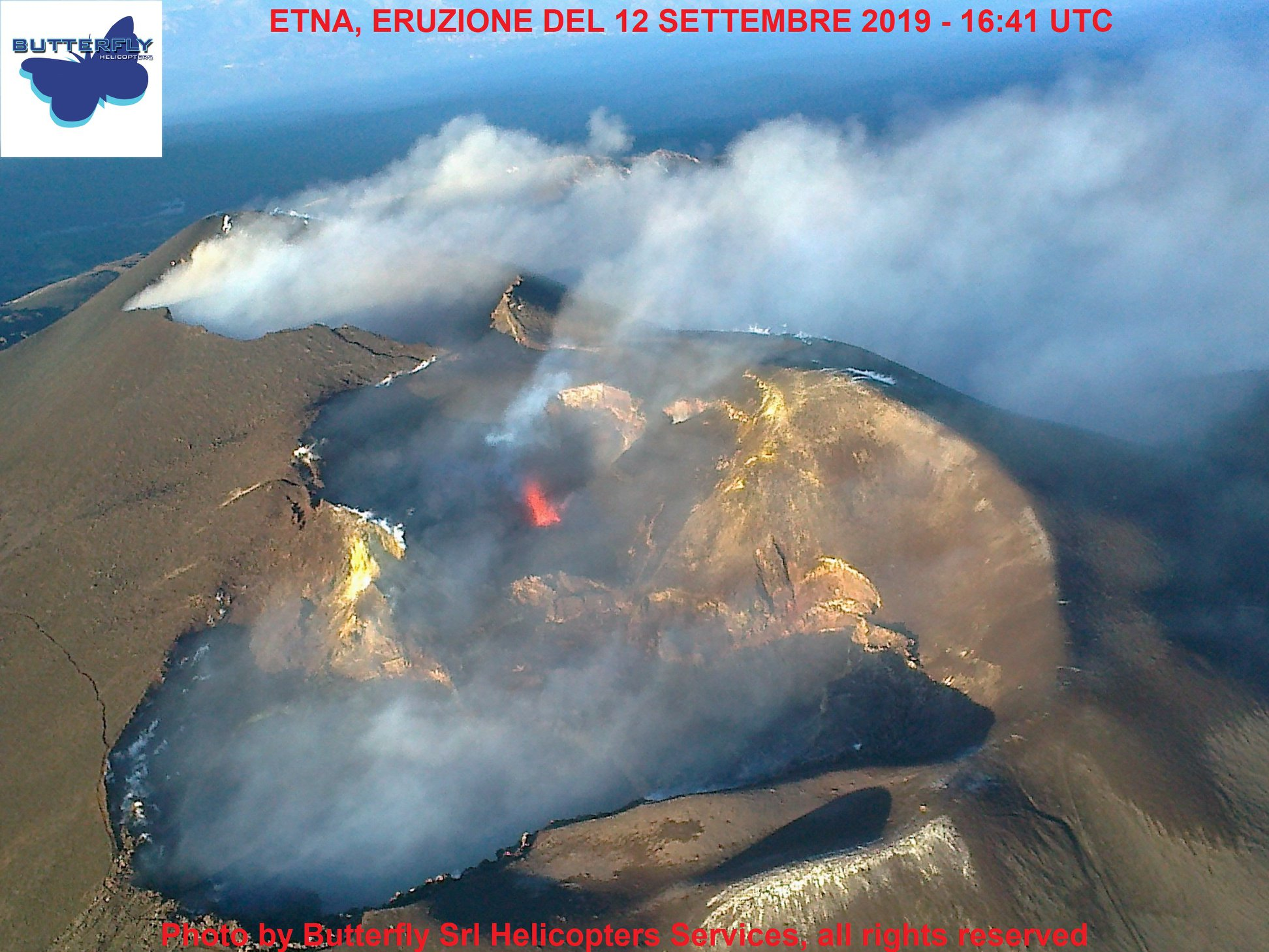 September 13, 2019. EN. Italy / Sicily : Etna , Hawaii : Mauna Loa , Kamchatka : Sheveluch , Guadeloupe : La Soufriere , Chile : Copahue .