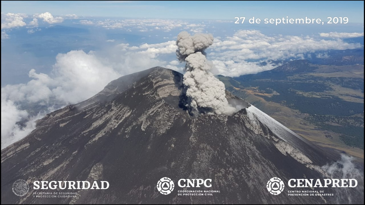 28 Septembre 2019. FR . Mexique : Colima , Mexique : Popocatepetl , Indonésie : Anak Krakatau , Colombie : Chiles / Cerro Negro .
