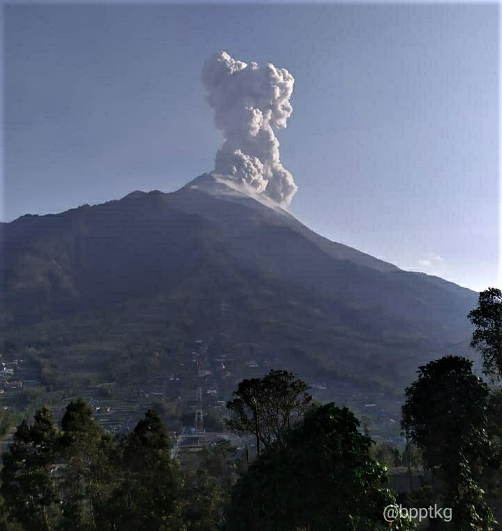 October 15, 2019. EN . Indonesia : Merapi , Peru : Ubinas , Ecuador : Reventador , Indonesia : Ibu .